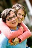 Happy couple having fun Stock Images
