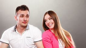 Happy couple having fun and fooling around. Royalty Free Stock Image