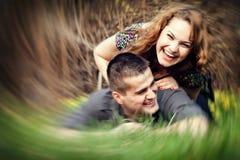 Happy couple having fun outdoor Stock Photo