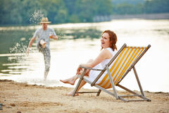 Happy couple having fun in summer Royalty Free Stock Photography