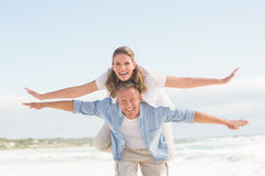 Happy couple having fun together Royalty Free Stock Images