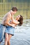 Happy couple having good time Stock Photography