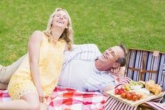 Happy couple having a picnic Royalty Free Stock Photography