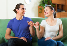 Happy couple having reconciliation Royalty Free Stock Images