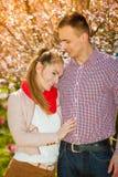 Happy couple having romantic date in park Stock Image