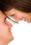 Happy couple -heads together Stock Photography