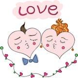 Happy couple of hearts. Stock Photo