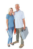 Happy couple holding DIY tools Stock Image