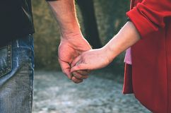 Happy couple holding hands Royalty Free Stock Photo