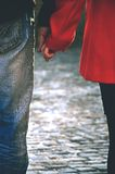 Happy couple holding hands Stock Image