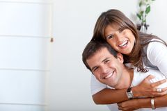 Happy couple at home Stock Photos