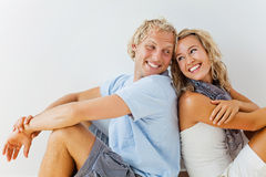 Happy couple at home Stock Photo