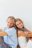 Happy couple at home Royalty Free Stock Photography