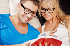 Happy couple at home Stock Images