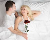 Happy couple at honeymoon Royalty Free Stock Photo