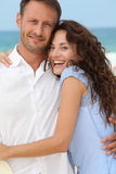 Happy couple on a honeymoon Royalty Free Stock Photography
