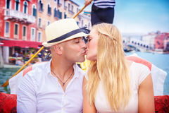 Happy couple in honeymoon Royalty Free Stock Images