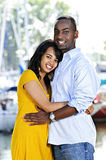 Happy couple hugging Stock Photos