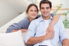 Happy couple hugging Royalty Free Stock Photo