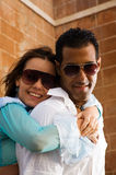 Happy Couple Hugging Royalty Free Stock Image