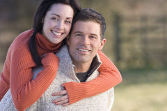 Happy couple hugging royalty free stock photo