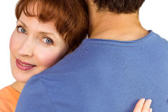 Happy couple hugging one another Royalty Free Stock Photo