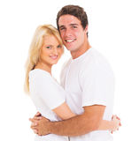 Happy couple hugging Stock Photos