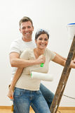 Happy couple improving home Royalty Free Stock Photo