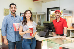 Free Happy Couple In A Concession Stand Royalty Free Stock Images - 96838469
