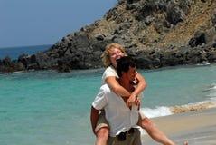 Happy Couple In Caribbean Stock Photo