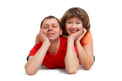 Happy couple isolated Stock Photography