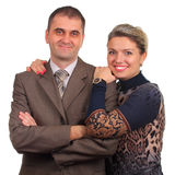 Happy couple isolated on white Stock Image