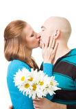 Happy couple kissing Royalty Free Stock Photos