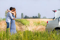 Happy couple kissing Stock Photo