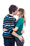 Happy couple kissing Royalty Free Stock Images