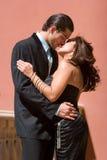 Happy couple kissing Stock Photography