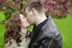 Happy couple kissing Stock Photos