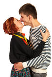 Happy couple kissing Royalty Free Stock Photo