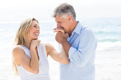 Happy couple laughing together Royalty Free Stock Image