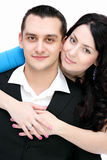 Happy couple looking at the camera Royalty Free Stock Photography