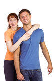 Happy couple looking at camera Royalty Free Stock Images