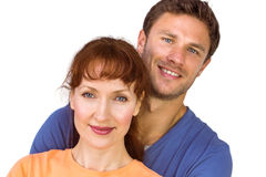 Happy couple looking at camera Stock Image