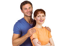 Happy couple looking at camera Stock Photography