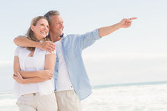 Happy couple looking to sea Royalty Free Stock Photo