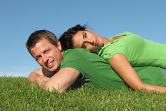 Happy couple in love. Happy couple together in love Stock Images