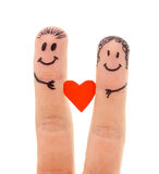 A happy couple in love Stock Photography