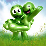 Happy couple in love 3d icon Stock Photo