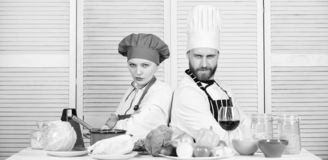 Happy couple in love with healthy food. Family cooking in kitchen. Dieting and vitamin. culinary cuisine. man and woman. Happy couple in love with healthy food royalty free stock images