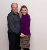 Happy couple in love. Happy couple in love isolated on white royalty free stock image