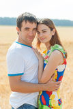 Happy couple in love outdoors. Royalty Free Stock Photo
